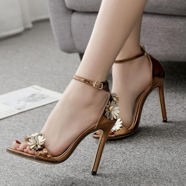 Open toe ankle-strap sandals