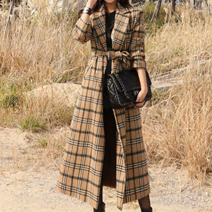 Plaid long a line peacoats