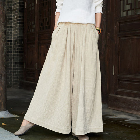 Linen long daytime skirts - Fancyever