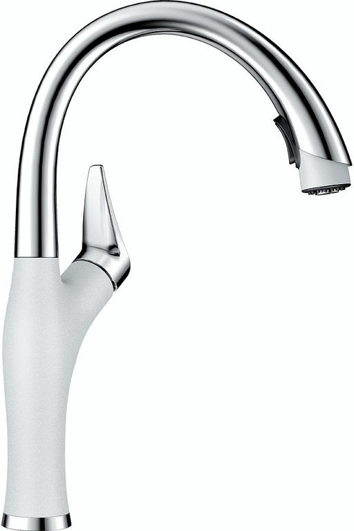 BLANCO Artona Pull Down Spray Kitchen Faucet Stainless-White 442028
