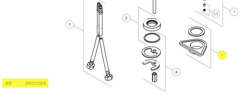 NOBILI RRO126/5 Triangle Sink Mounting Kit