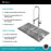 KRAUS Kitchen Combo with 33 Inch Undermount 50/50 Double Bowl 16 Gauge Stainless Steel Kitchen Sink and Nola™ Commercial Kitchen Faucet with Soap Dispenser in Chrome
