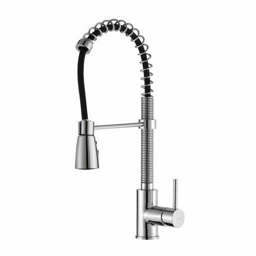KRAUS KPF-1612CH Commercial-Style Single-Handle Kitchen Faucet with Pull Down Three-Function Sprayer