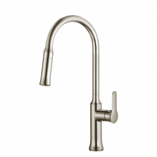 KRAUS Nola Single-Handle Kitchen Faucet with Pull Down Dual-Function Sprayer in Stainless Steel