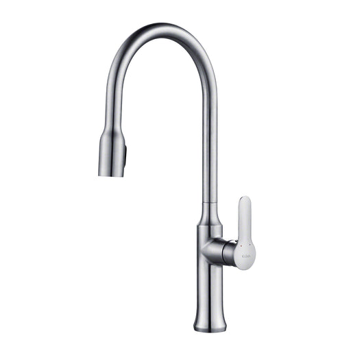 KRAUS KPF-1660CH Nola Single-Handle Kitchen Faucet with Concealed Pull Down Dual-Function Sprayer in Chrome