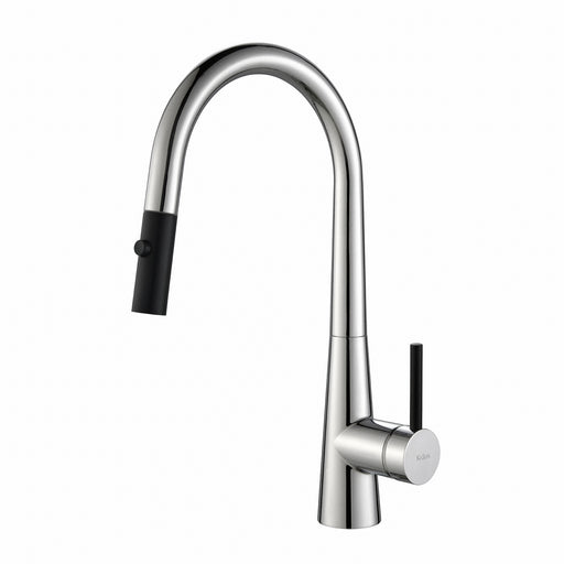 KRAUS Crespo Single-Handle Kitchen Faucet with Pull Down Dual-Function Sprayer in Chrome