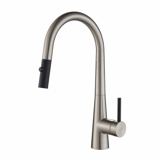 KRAUS KPF-2720SS Crespo Single-Handle Kitchen Faucet with Pull Down Dual-Function Sprayer in Stainless Steel