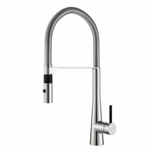 KRAUS Crespo Flex Single-Handle Commercial Style Kitchen Faucet with Dual-Function Sprayer in Chrome