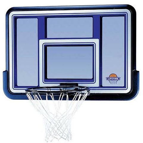 "Lifetime 44"" Polyethylene Backboard and Rim Combo Basketball Hoop"