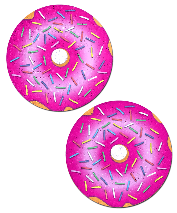 Donut: Donut with Pink Frosting and Rainbow Sprinkles Nipple Pasties