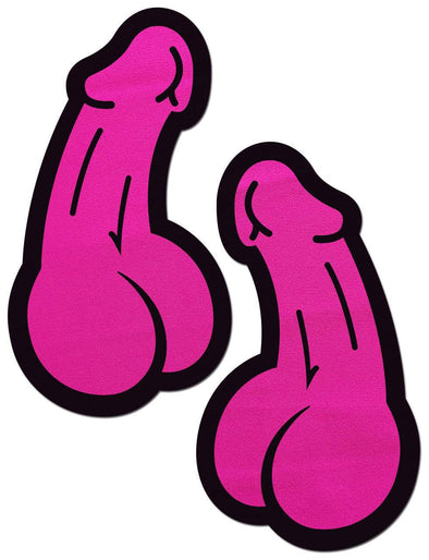 Penis: Neon Pink Dick Nipple Pasties