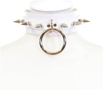 "SPIKE RING CHOKER 1 3/4"" WIDE"