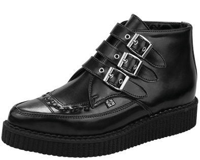 TUK-A8503 3 Buckle Pointed Creeper Boots