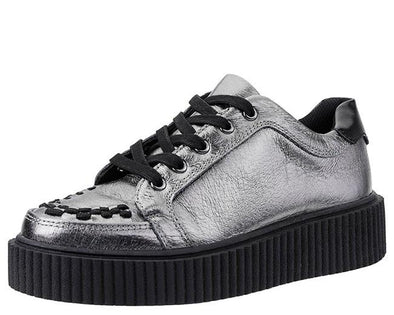 TUK-A9224 Leather Casbah Men's Creeper - Silver - Size 7 - Clearance
