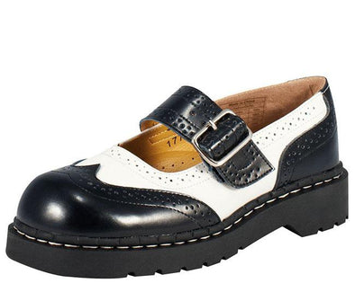 TUK-T1035 Brogue Mary Jane Shoes
