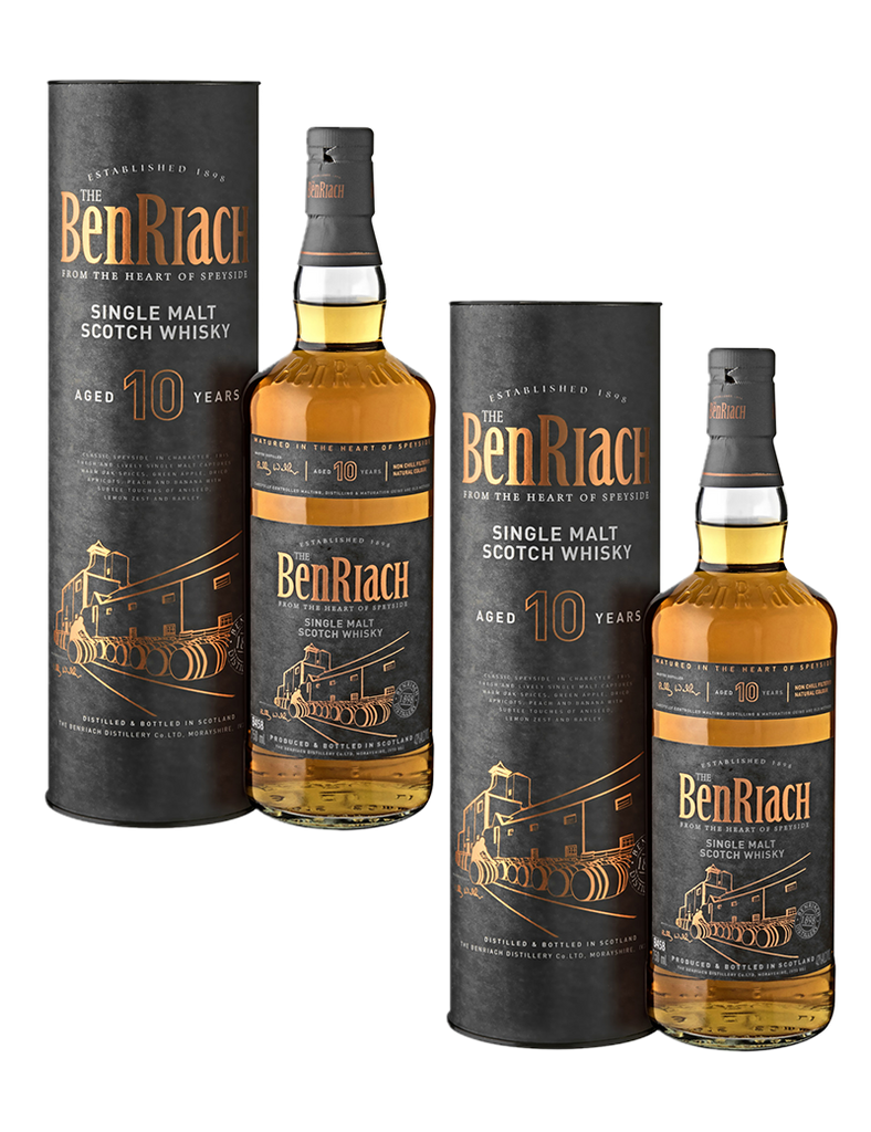 BenRiach 10 Year Old Single Malt 700ml x2 Promo