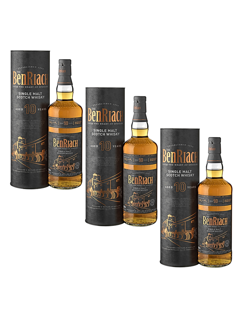 Benriach 10 Year Old Single Malt 700ml x3 Promo
