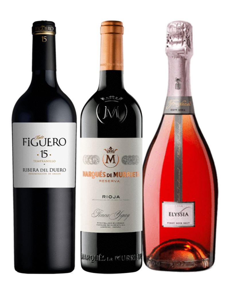 Trio Gift Box: Figuero, Marques de Murrieta & Freixenet