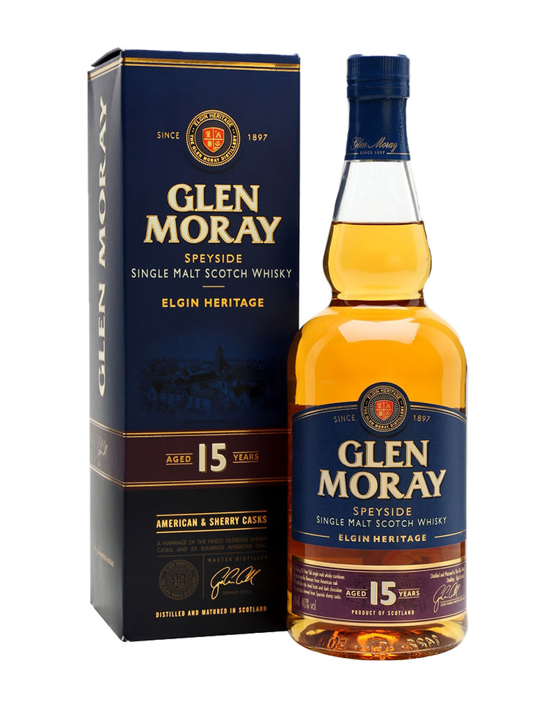 Glen Moray Single Malt 15 Year Old 700ml