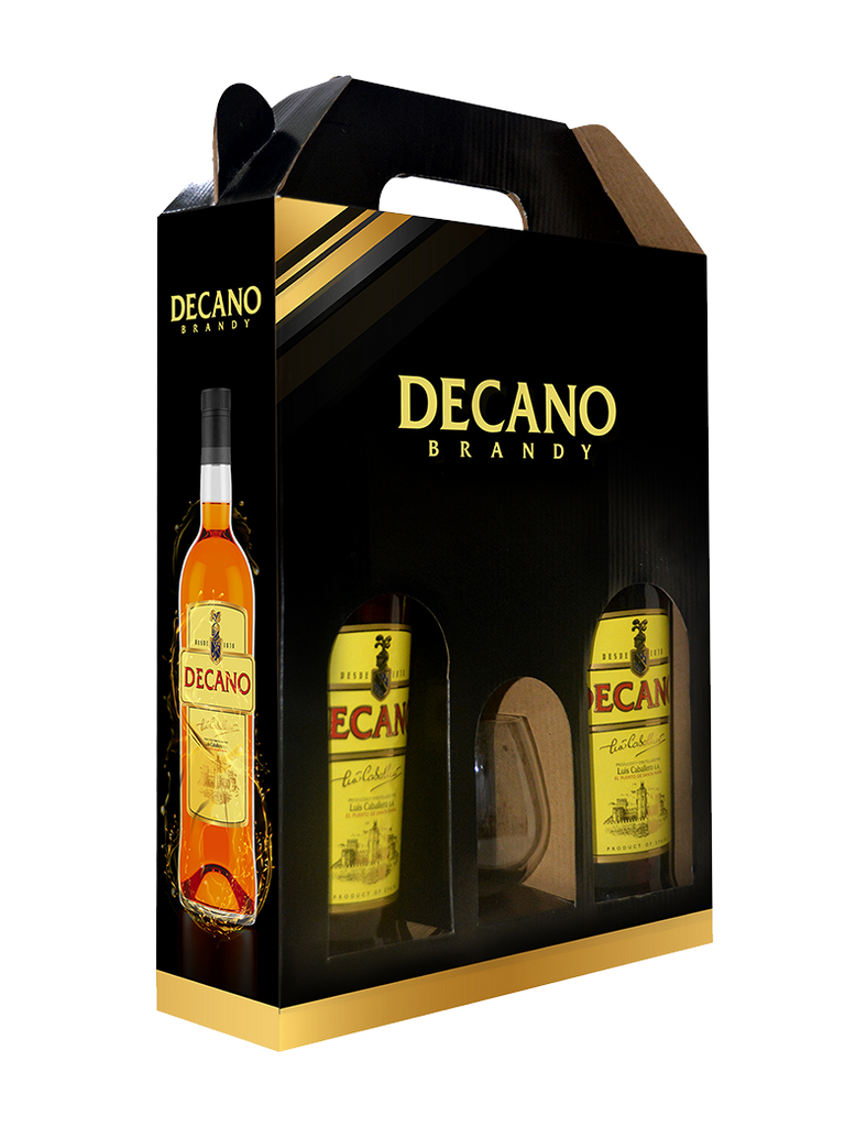 Decano Brandy Twin Bundle With Glass