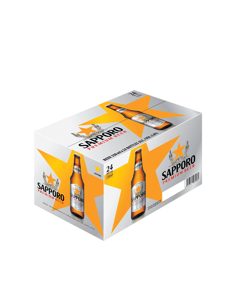 Sapporo Premium Beer Case 24x330ml - Ralph's Wines & Spirits