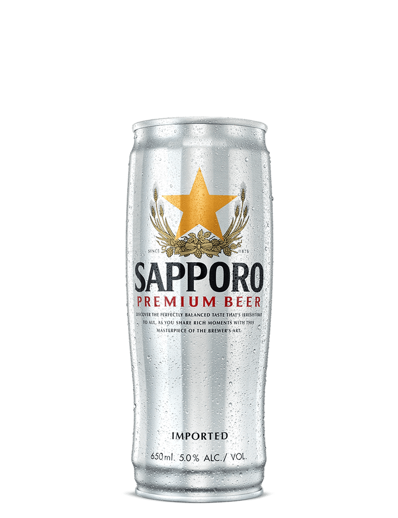 Sapporo Premium Beer Can 650ml