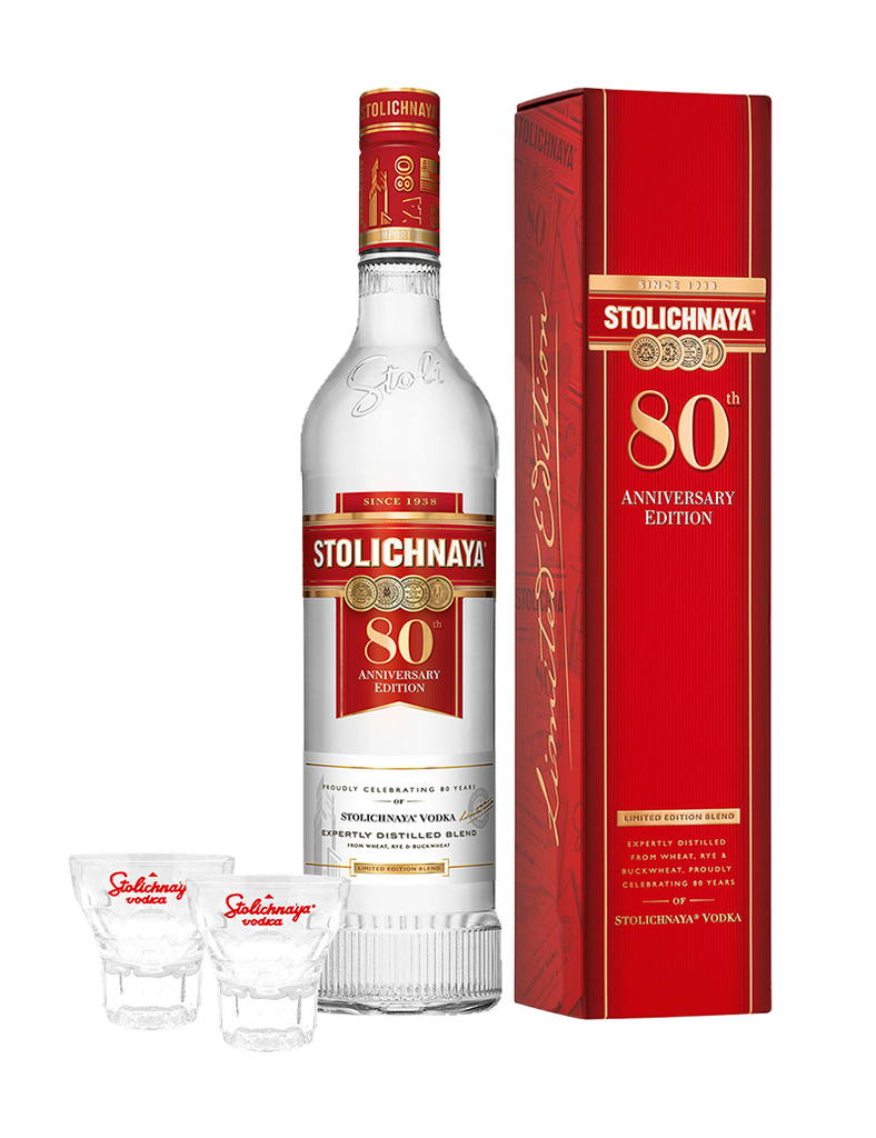 Stolichnaya Limited Edition 80th Anniversary Promo 750ml