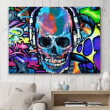 SKULL GRAFFITI - fashion fitness