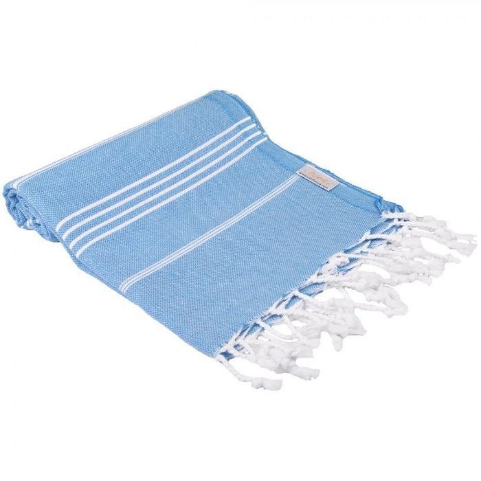Classic Turkish Peshtemal Towel 100% Cotton Blue