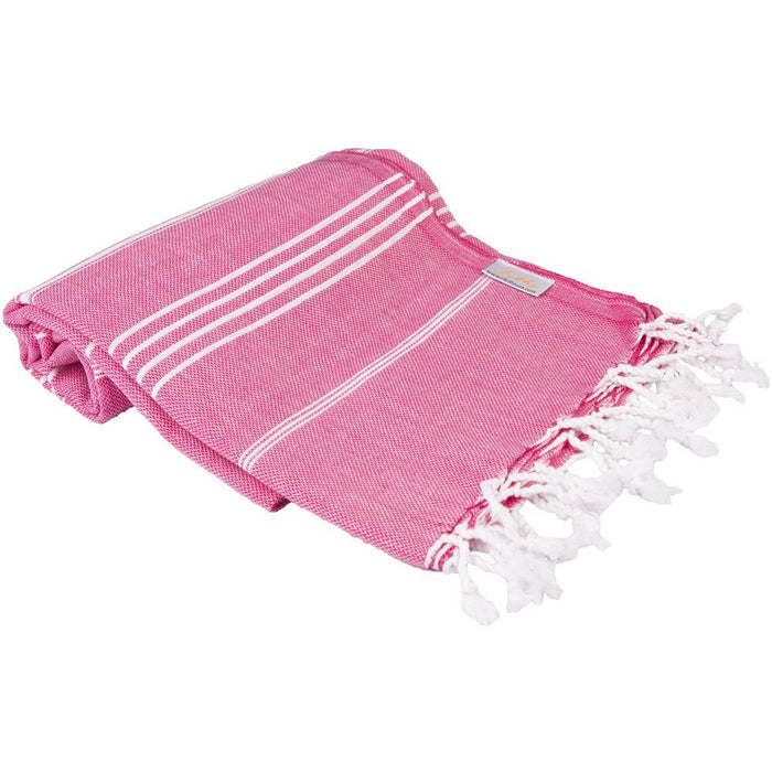 Classic Turkish Peshtemal Towel 100% Cotton Fuschia