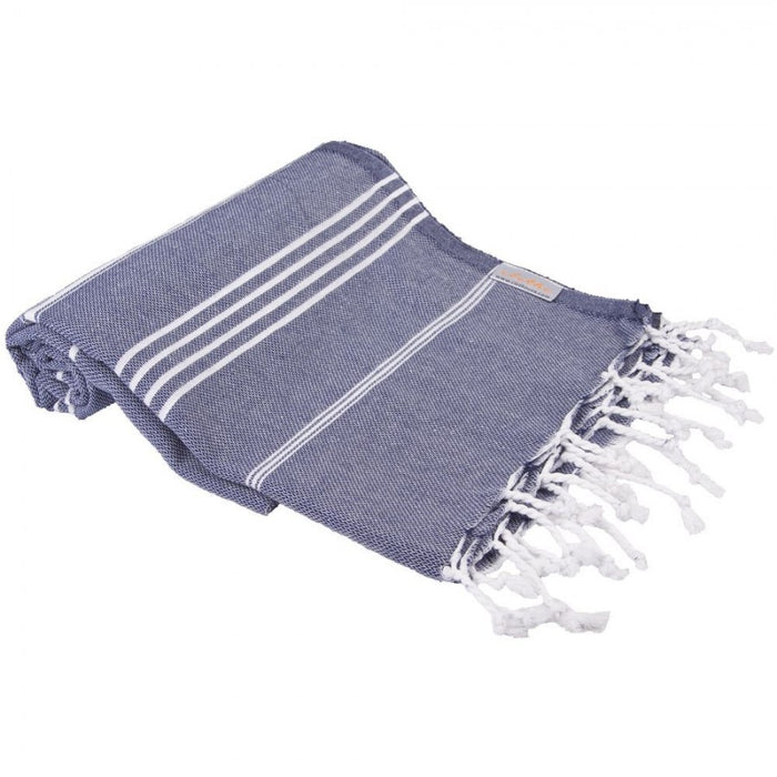 Classic Turkish Peshtemal Towel 100% Cotton Midnight Blue
