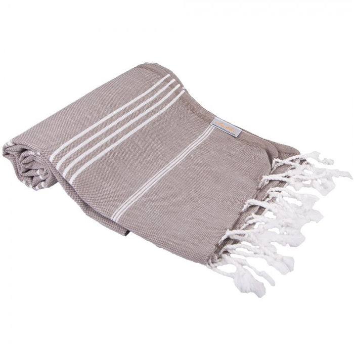 Classic Turkish Peshtemal Towel 100% Cotton Dark Brown