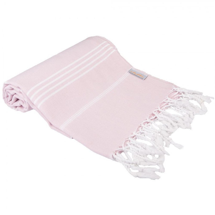Classic Turkish Peshtemal Towel 100% Cotton Blush