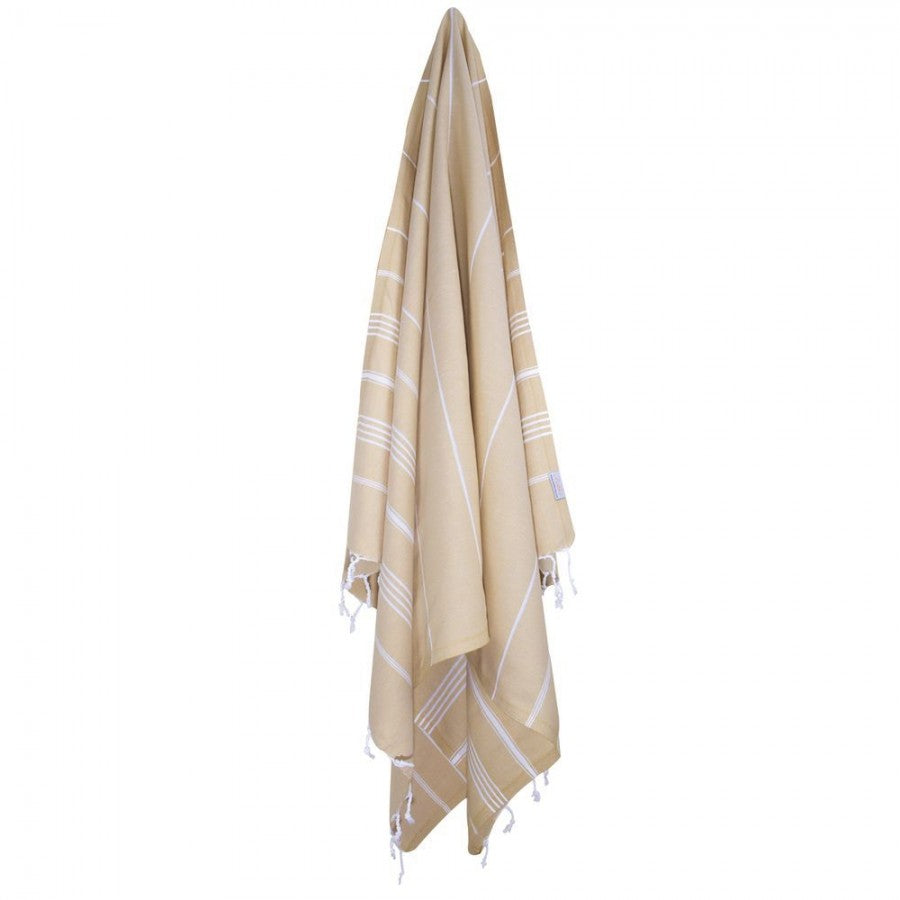 Classic Turkish Peshtemal Towel 100% Cotton Camel