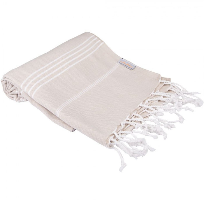Classic Turkish Peshtemal Towel 100% Cotton Light Brown