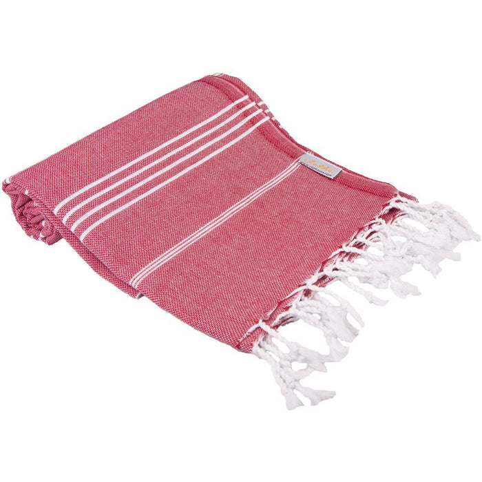 Classic Turkish Peshtemal Towel 100% Cotton Dark Red