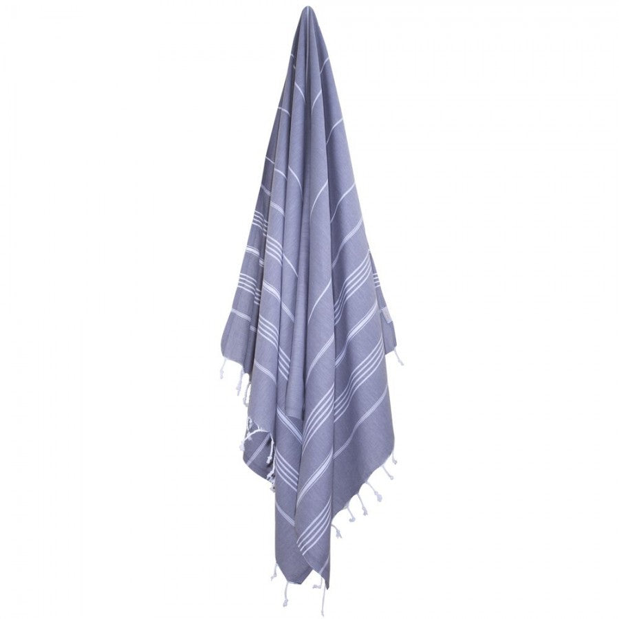 Classic Turkish Peshtemal Towel 100% Cotton Dark Gray