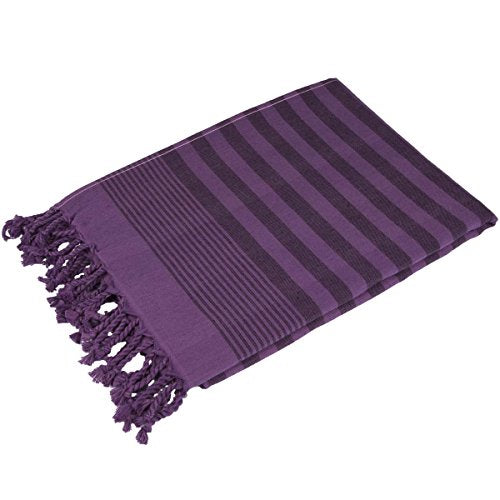 Terry Peshtemal Towel 100% Cotton Purple
