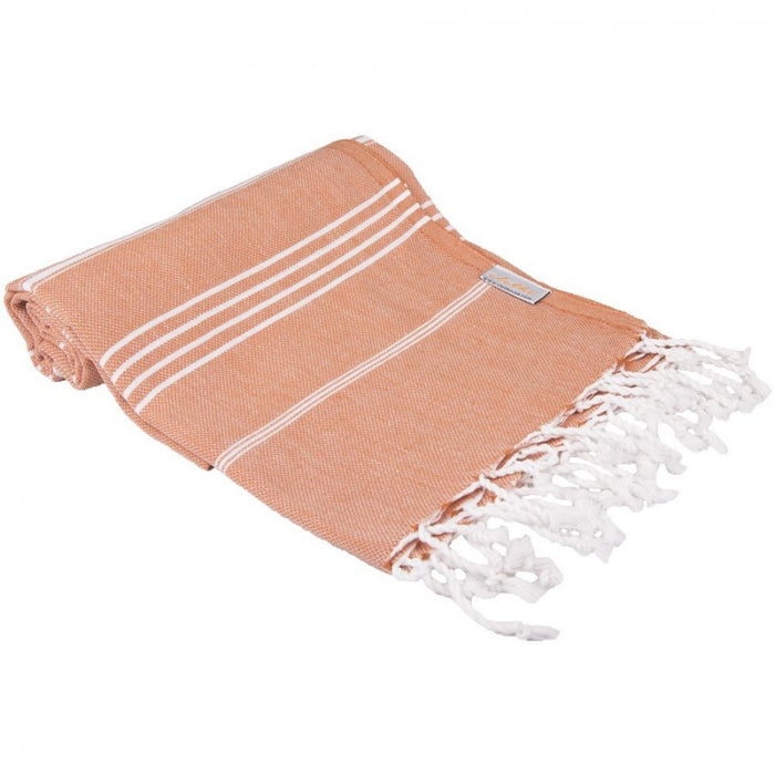 Classic Turkish Peshtemal Towel 100% Cotton Red Brown