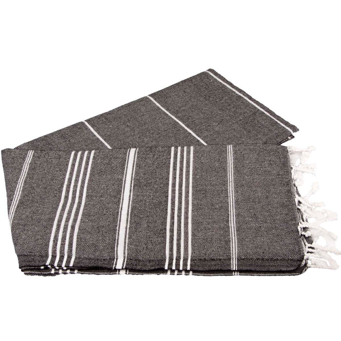 Classic Turkish Peshtemal Towel 100% Cotton Black