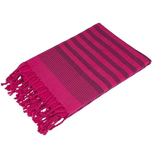 Terry Peshtemal Towel 100% Cotton Fuschia