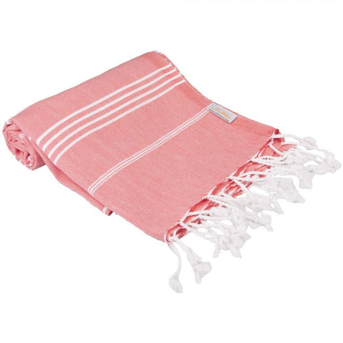 Classic Turkish Peshtemal Towel 100% Cotton Salmon