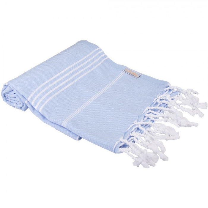 Classic Turkish Peshtemal Towel 100% Cotton Light Blue