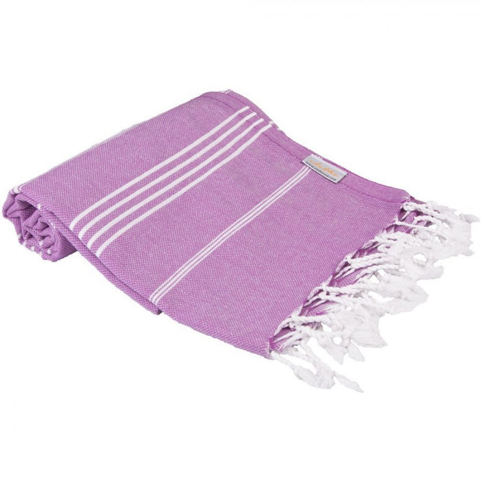 Classic Turkish Peshtemal Towel 100% Cotton Purple