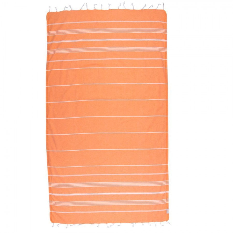 Classic Turkish Peshtemal Towel 100% Cotton Orange