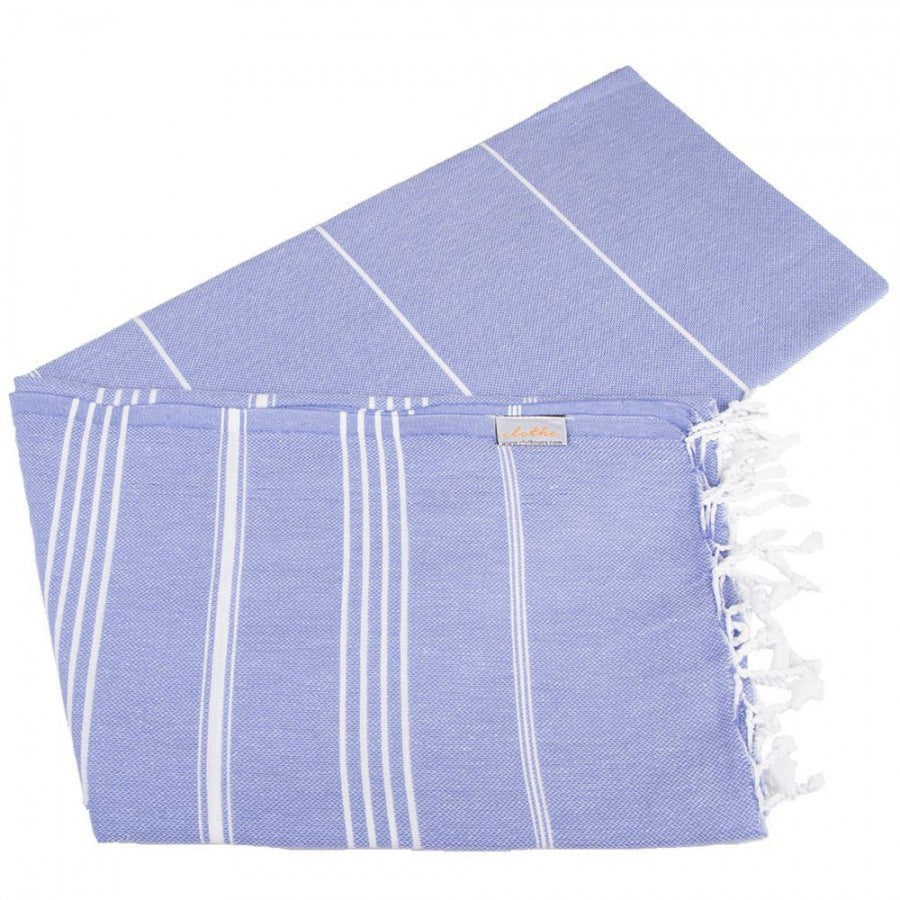Classic Turkish Peshtemal Towel 100% Cotton Blue Violet