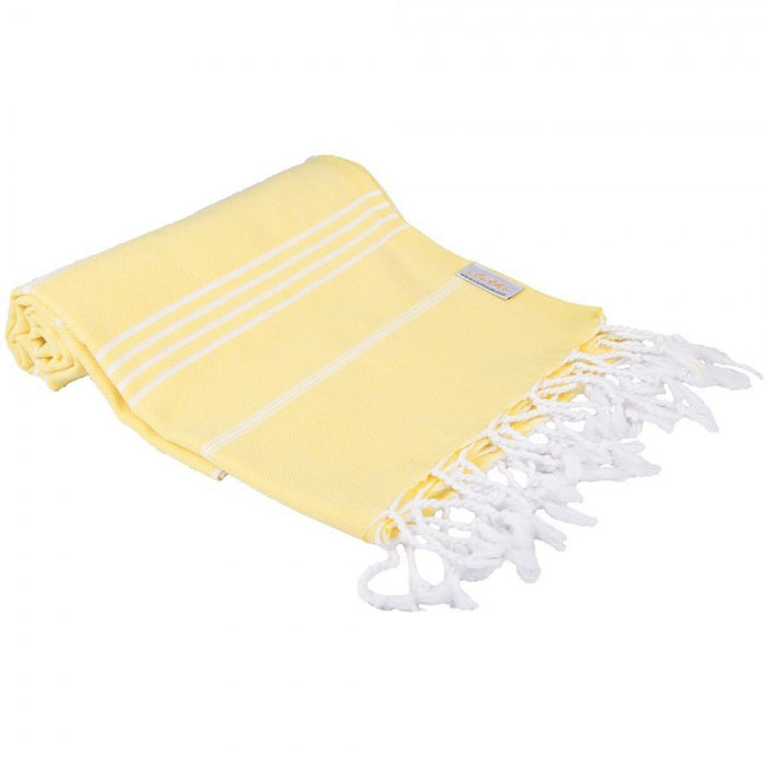 Classic Turkish Peshtemal Towel 100% Cotton Bright Yellow
