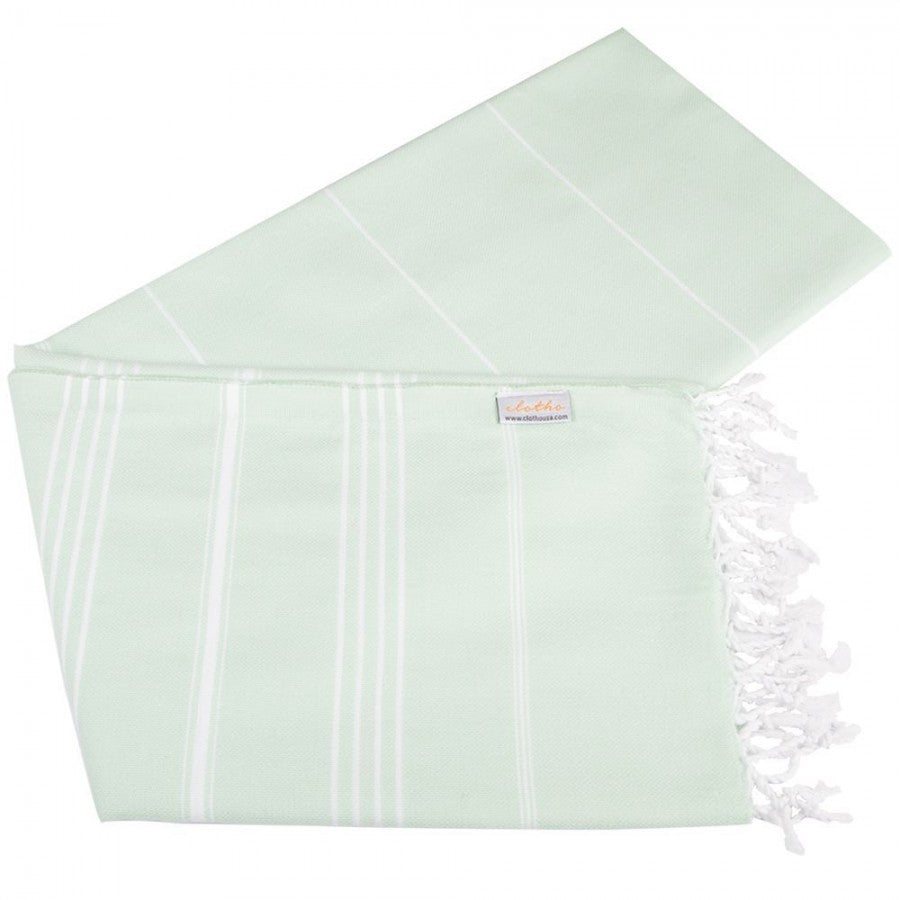 Classic Turkish Peshtemal Towel 100% Cotton Light Green