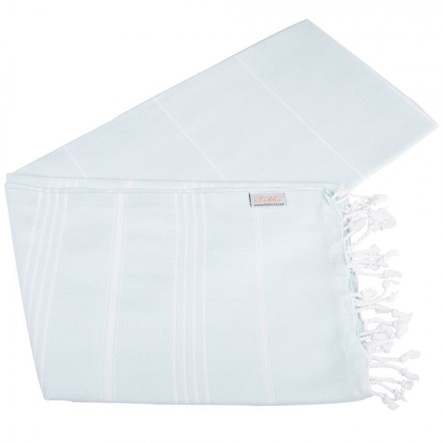 Classic Turkish Peshtemal Towel 100% Cotton Aquamarine