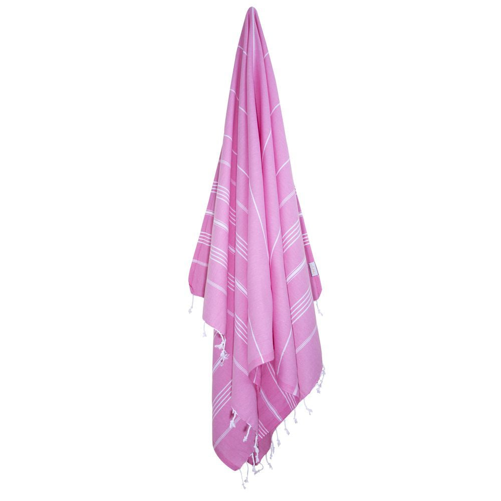 Classic Turkish Peshtemal Towel 100% Cotton Pink